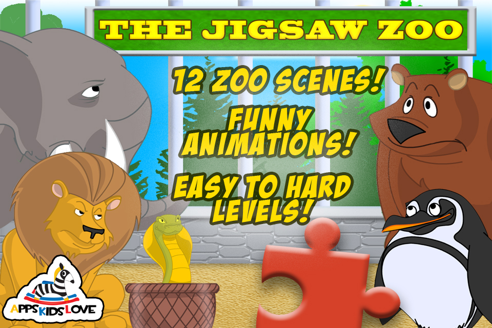 Screenshot JigSaw Zoo Animal Puzzles – Animated Puzzle Fun for Kids with Funny Cartoon Animals!