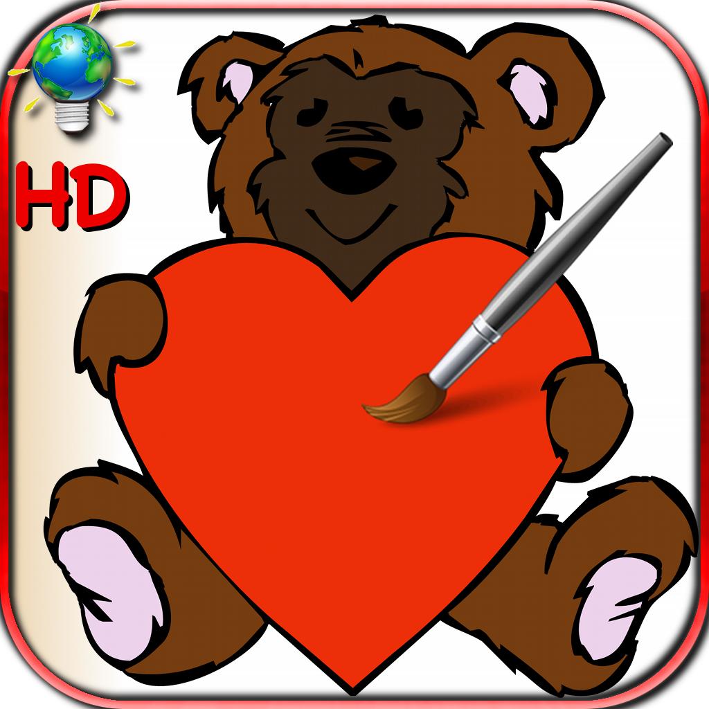 Libro para colorear para el Día de San Valentín con corazones y ...